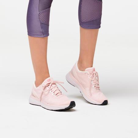 KALENJI RUN SUPPORT WOMEN'S RUNNING SHOES - PINK