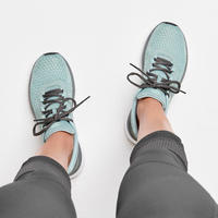 KALENJI RUN SUPPORT WOMEN'S RUNNING SHOES - KHAKI