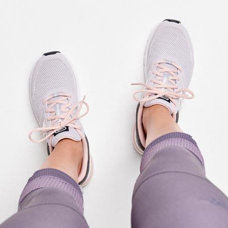KALENJI RUN ACTIVE WOMEN'S RUNNING SHOES - GREY
