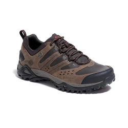 Columbia Peakfree Men's Waterproof Leather Walking Shoes - Black/Brown