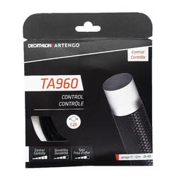 CORDAJE DE TENIS MONOFILAMENTO TA 960 Control 1,25 mm NEGRO