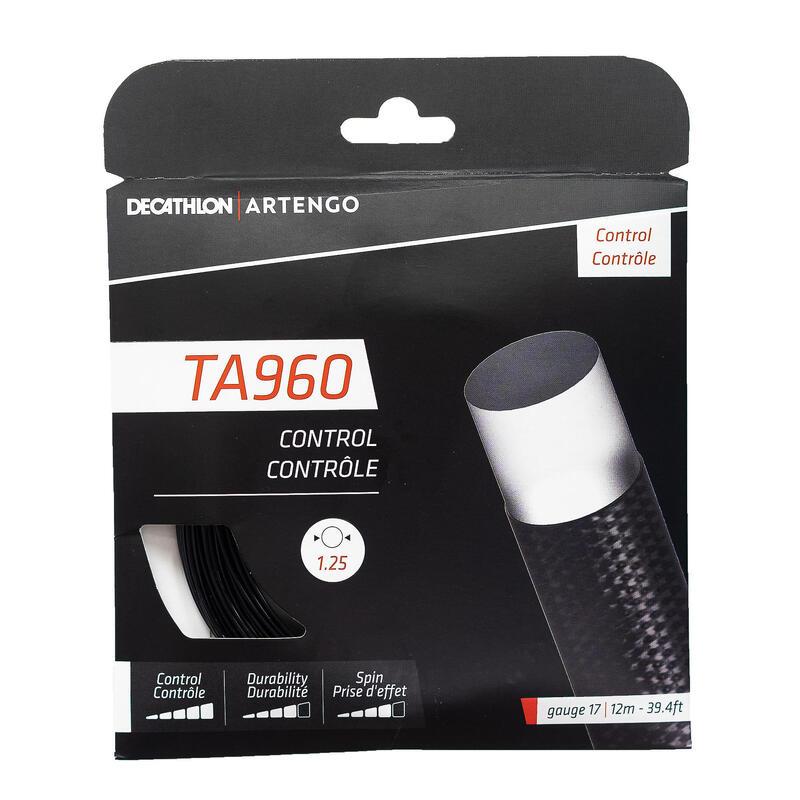 Monofilament tennisbesnaring TA 960 Control 1,25 mm zwart.