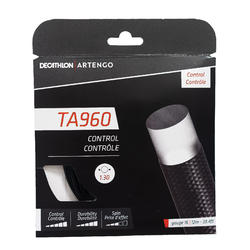 CORDAGE DE TENNIS MONOFILAMENT TA 960 Control 1.3 mm NOIR.