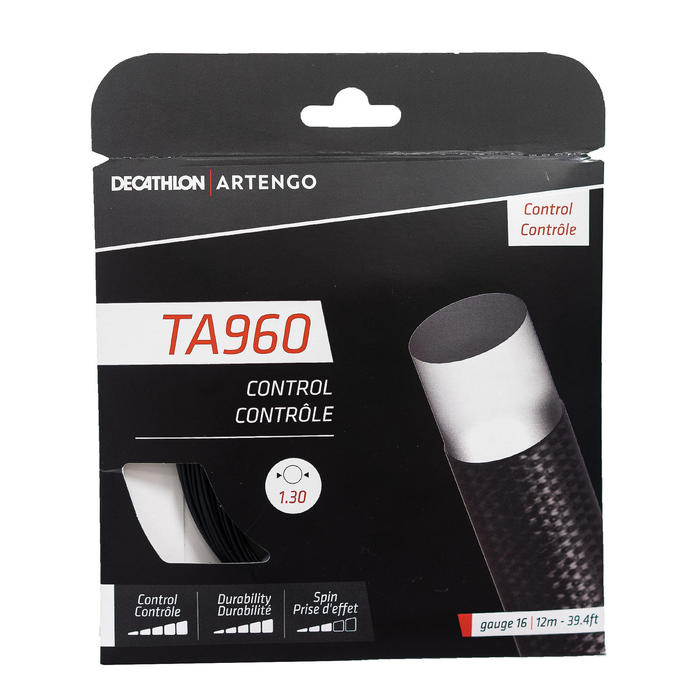 CORDAJE DE TENIS MONOFILAMENTO TA 960 Control 1,3 mm NEGRO