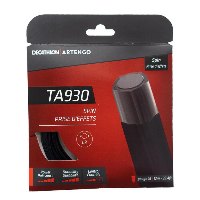 CORDAGE DE TENNIS MONOFILAMENT NOIR PENTAGONAL TA 930 SPIN EN JAUGE 1.3 mm