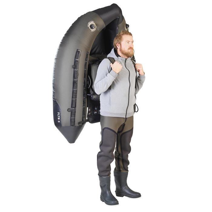 FLOAT TUBE PÊCHE AUX LEURRES FLTB-5 KAKI / NOIR