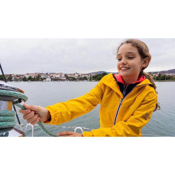 兒童款防水航海外套SAILING 100-藍色/黃色