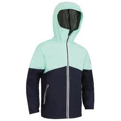 Zeiljas - regenjas voor kinderen Sailing 100 marineblauw/mint