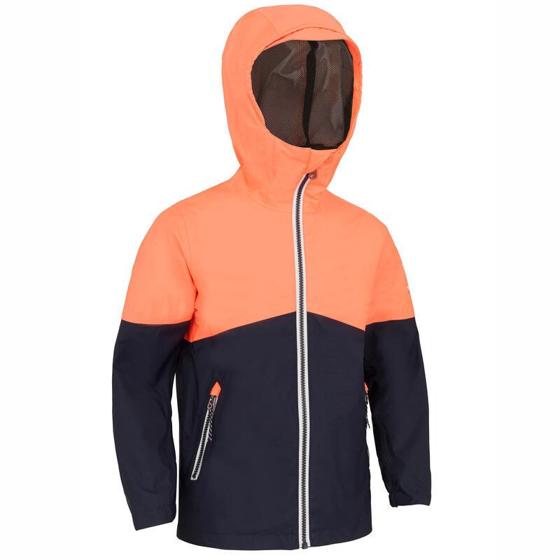 Veste imperméable de voile - veste de pluie SAILING 100 Enfant Rose navy