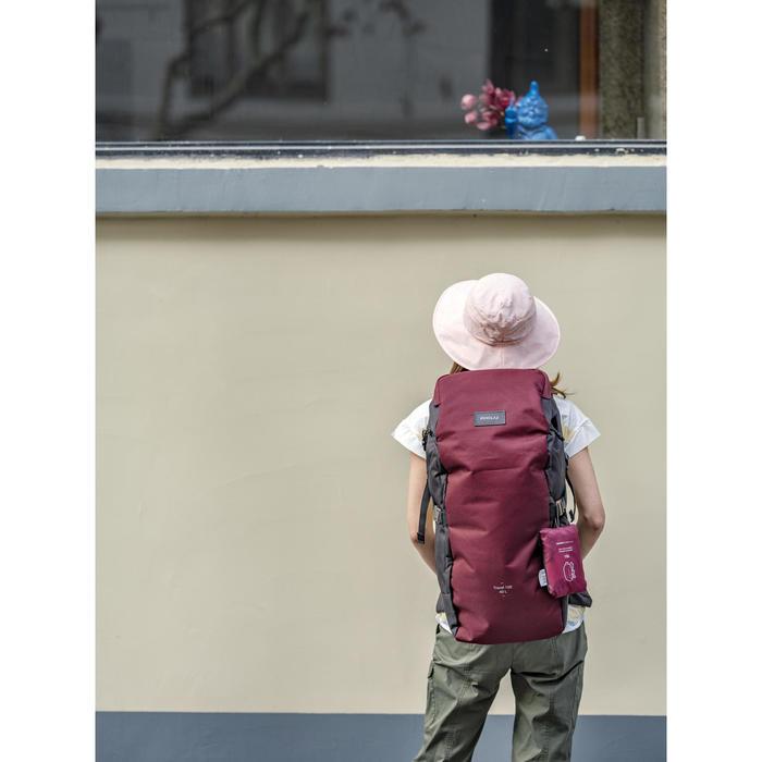 Ventilated and ultra-compact mountain trekking hat - TREK 100 - Pink&Lunar grey