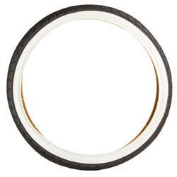 Buitenband voor kinderfiets draadband 20x1.75/ETRTO 46-406 zwart met witte flank