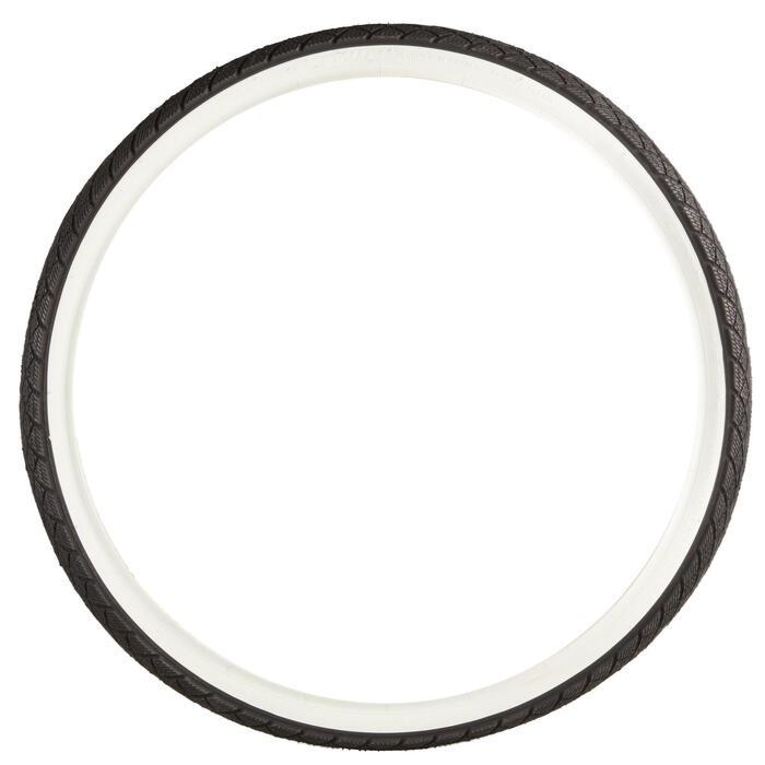 Buitenband voor kinderfiets draadband 24X1.75/ETRTO 47-507 zwart met witte flank
