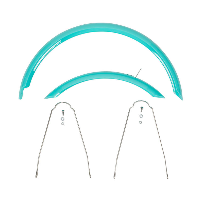 """Mudguards Pair 16"""" Bike - Turquoise (sold as a pair, without screws)"""