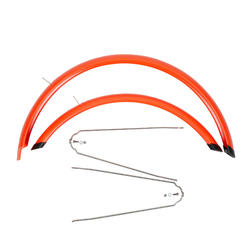 Garde boue vélo 24 pouces orange (paire)