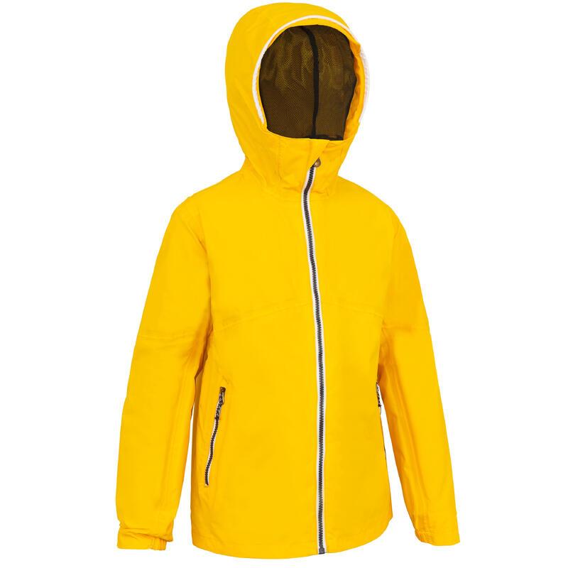 Kids' waterproof sailing jacket 100 Yellow