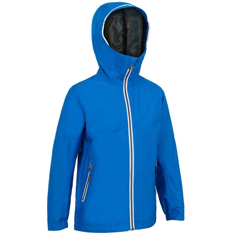 Kids' Waterproof Sailing Jacket 100 - Bright blue