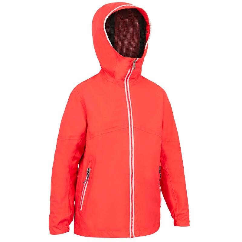 Kid's Waterproof Sailing Jacket 100 - Pink