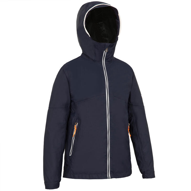 Kids' waterproof sailing jacket 100 Navy
