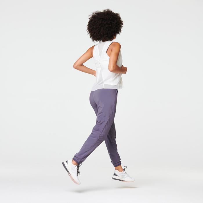 RUN DRY WOMEN'S RUNNING TROUSERS - PURPLE GREY