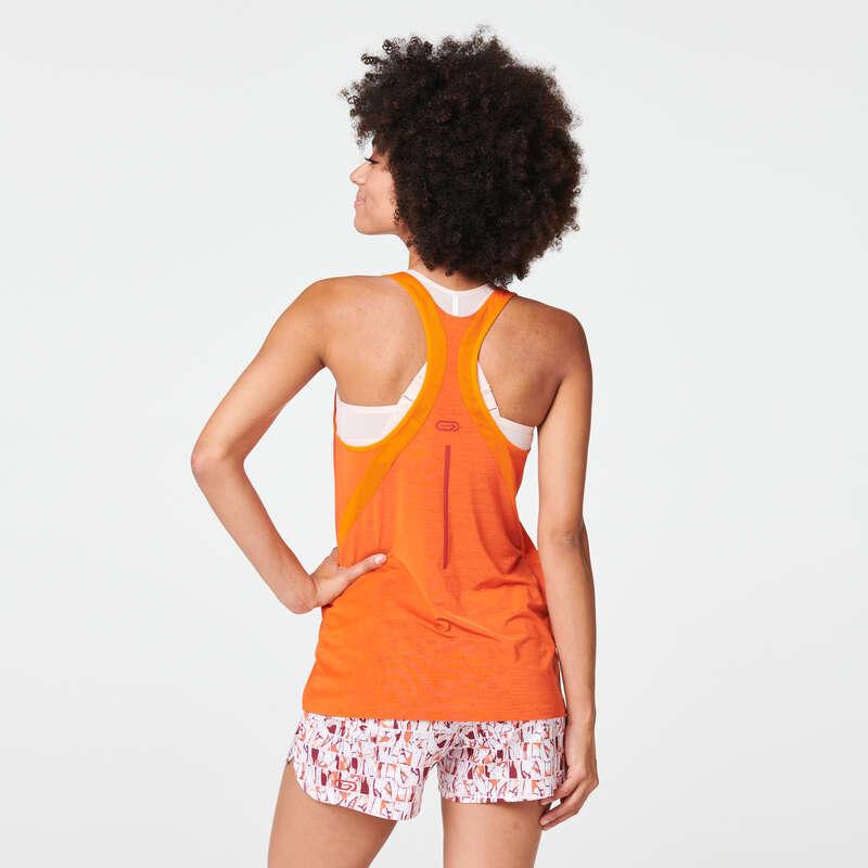 Női tavasz-nyári ruházat - rendszeres Futás - Női ujjatlan felső Run Light KALENJI - Futás