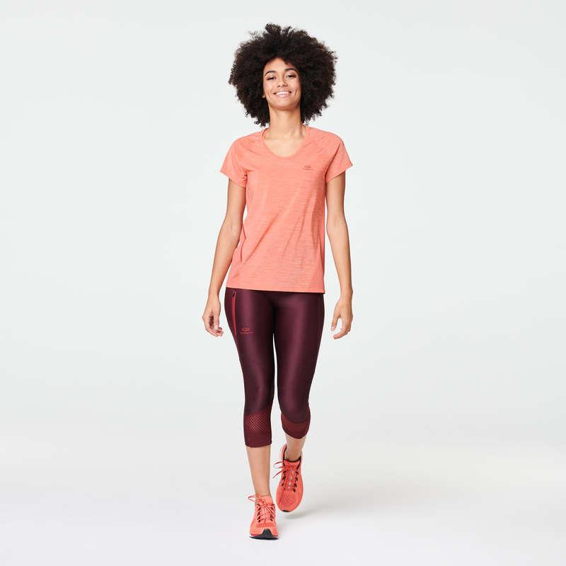 Női légáteresztő ruházat Futás - Női póló futáshoz Run Light KALENJI - Minden ami futás