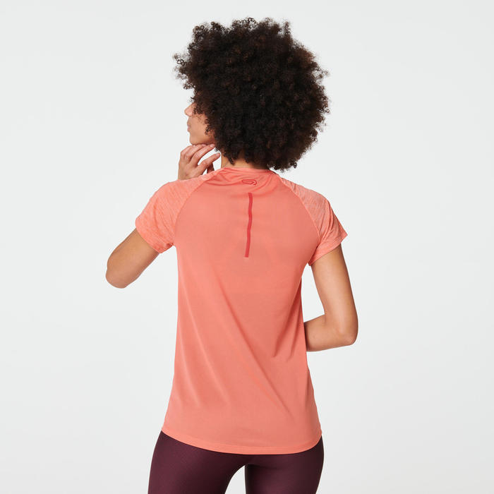 T-SHIRT RUN LIGHT FEMME ORANGE