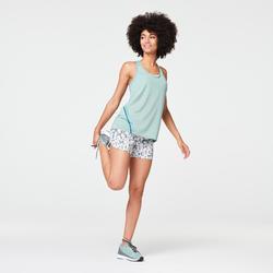 Joggingshort voor dames Run Dry Print kaki