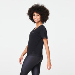 RUN FEEL WOMEN'S RUNNING T-SHIRT - BLACK