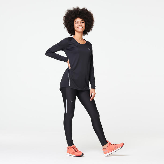 Hardlooplegging voor dames Run Dry zwart