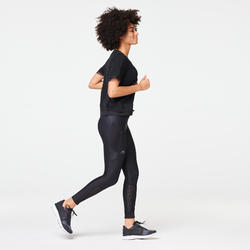 RUN DRY+ FEEL WOMEN'S JOGGING TIGHTS - BLACK