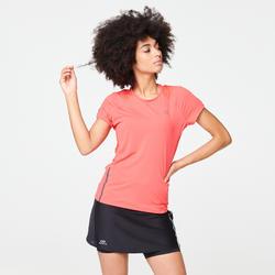 Camiseta Manga Corta Running Kalenji Run Dry+ Mujer Coral