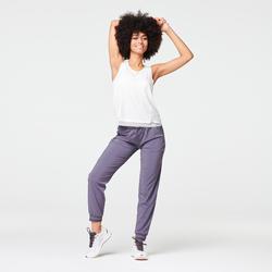 女款跑步運動褲RUN DRY - 灰紫色/灰色
