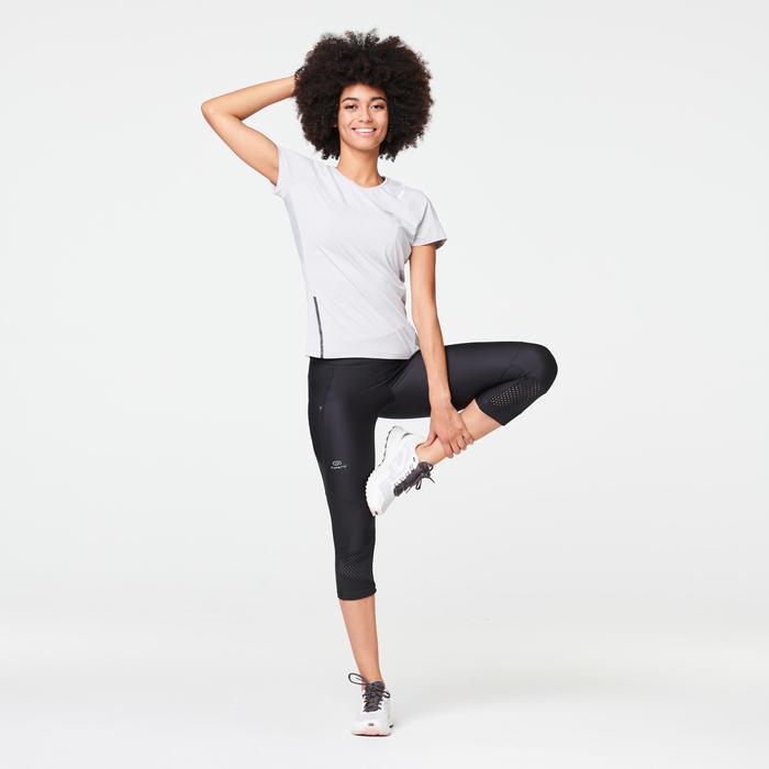 Hardloop T-shirt voor dames Run Dry+ lichtgrijs
