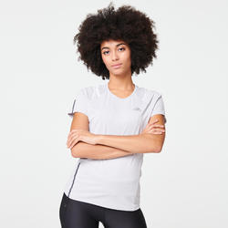 T-SHIRT JOGGING FEMME RUN DRY+ GRIS CLAIR