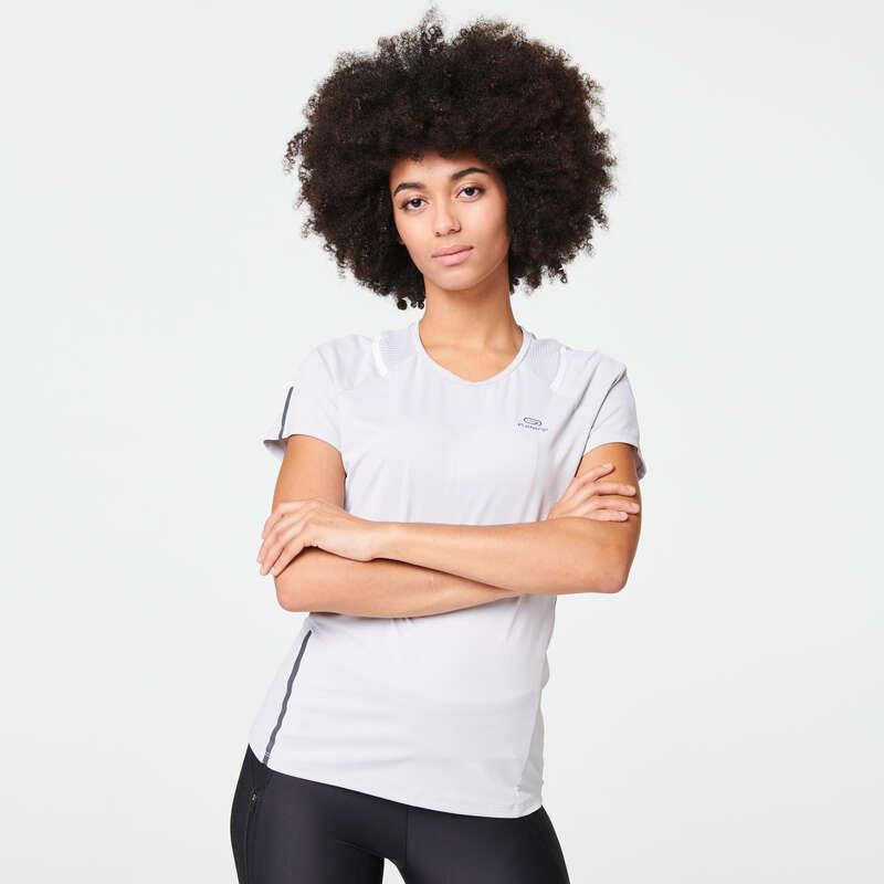ABBIGLIAMENTO TRASPIRANTE DONNA Running, Trail, Atletica - T-shirt donna RUN DRY+ grigia KALENJI - Abbigliamento Running