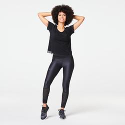 RUN FEEL WOMEN'S RUNNING T-SHIRT - BLACK