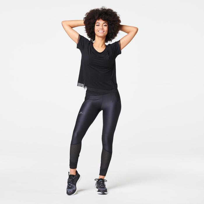 女款跑步T恤RUN FEEL - 黑色