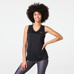 Hardloopshirt voor dames Run Dry zwart