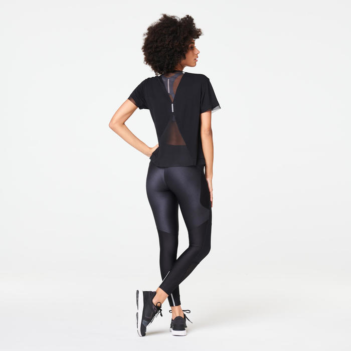 RUN DRY+ FEEL WOMEN'S JOGGING TIGHTS - BLACK