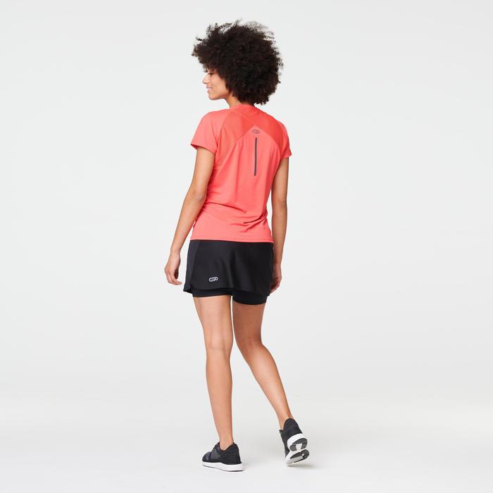 T-SHIRT JOGGING FEMME RUN DRY+ CORAIL