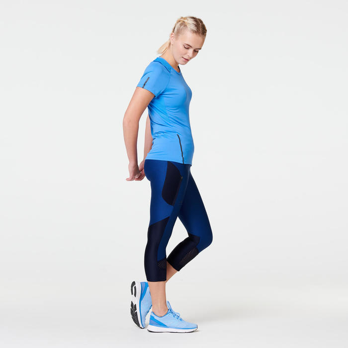 T-SHIRT JOGGING FEMME RUN DRY+ BLEU REGATTA