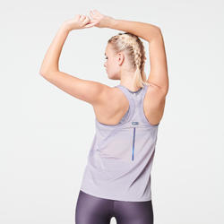 Joggingtopje voor dames Run Light lavendelpaars