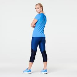 Hardloop T-shirt voor dames Run Dry+ regattablauw