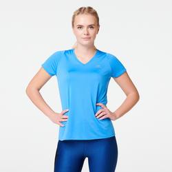 Camiseta manga corta Running Kalenji Run Dry Mujer Azul