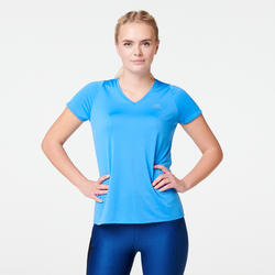 Hardloop T-shirt voor dames Run Dry blauw