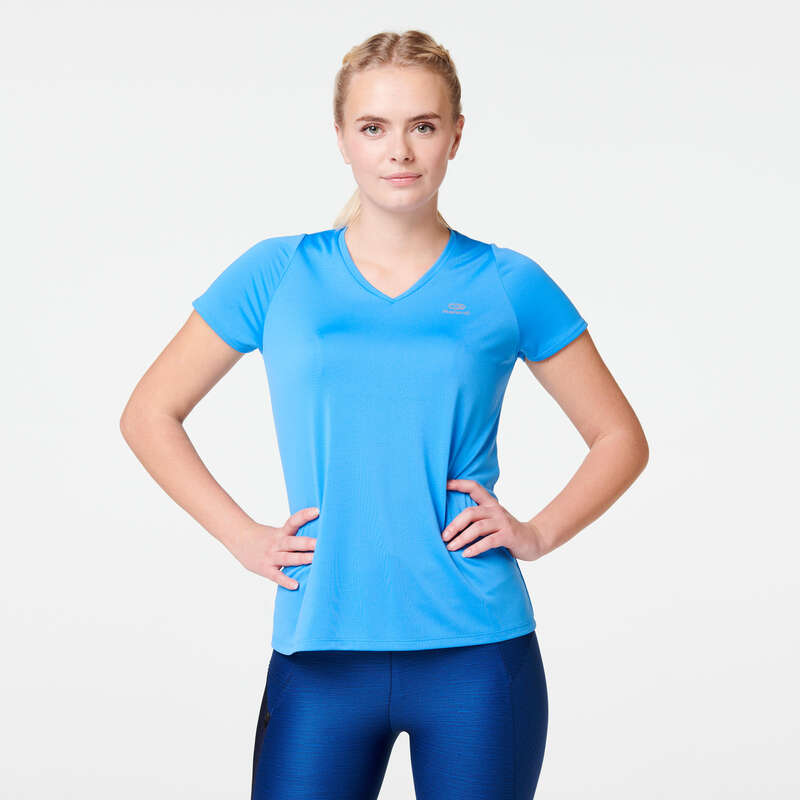 OCCAS WOMAN JOG WARM/MILD WHTR CLOTHES Running - RUN DRY T-SHIRT KALENJI - Running