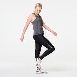 女款跑步背心RUN FEEL - 煤灰色