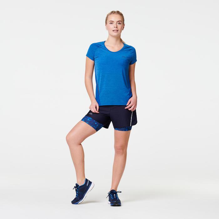 女款T恤RUN LIGHT - 藍色