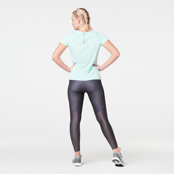 Hardloop T-shirt voor dames Run Dry lichtgroen