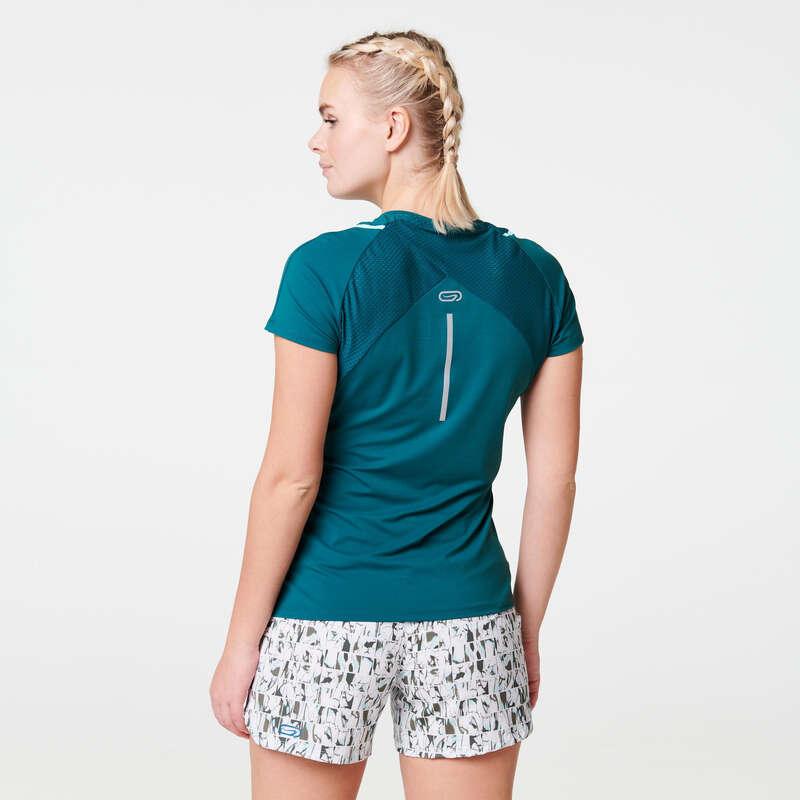 Női légáteresztő ruházat Futás - Női futópóló RUN DRY + KALENJI - Minden ami futás